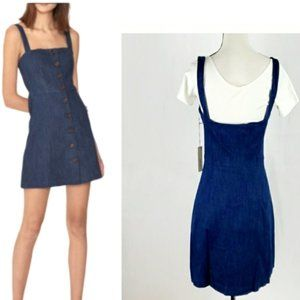 CAPULET | SLEEVELESS DENIM MINI DRESS | NWT | L